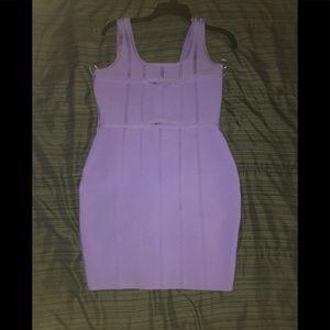 Fashionova Purple Bandage Dress